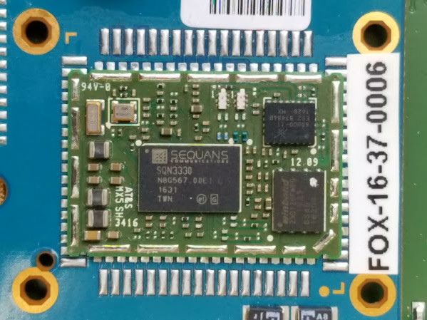 Demo device prototype with the Gemalto Cat M1 module with Sequans LTE Cat M1 Monarch chip inside